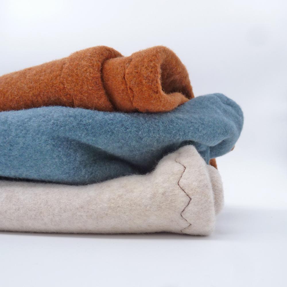 Baumwolle Fleece Zimt Pflaume Farben