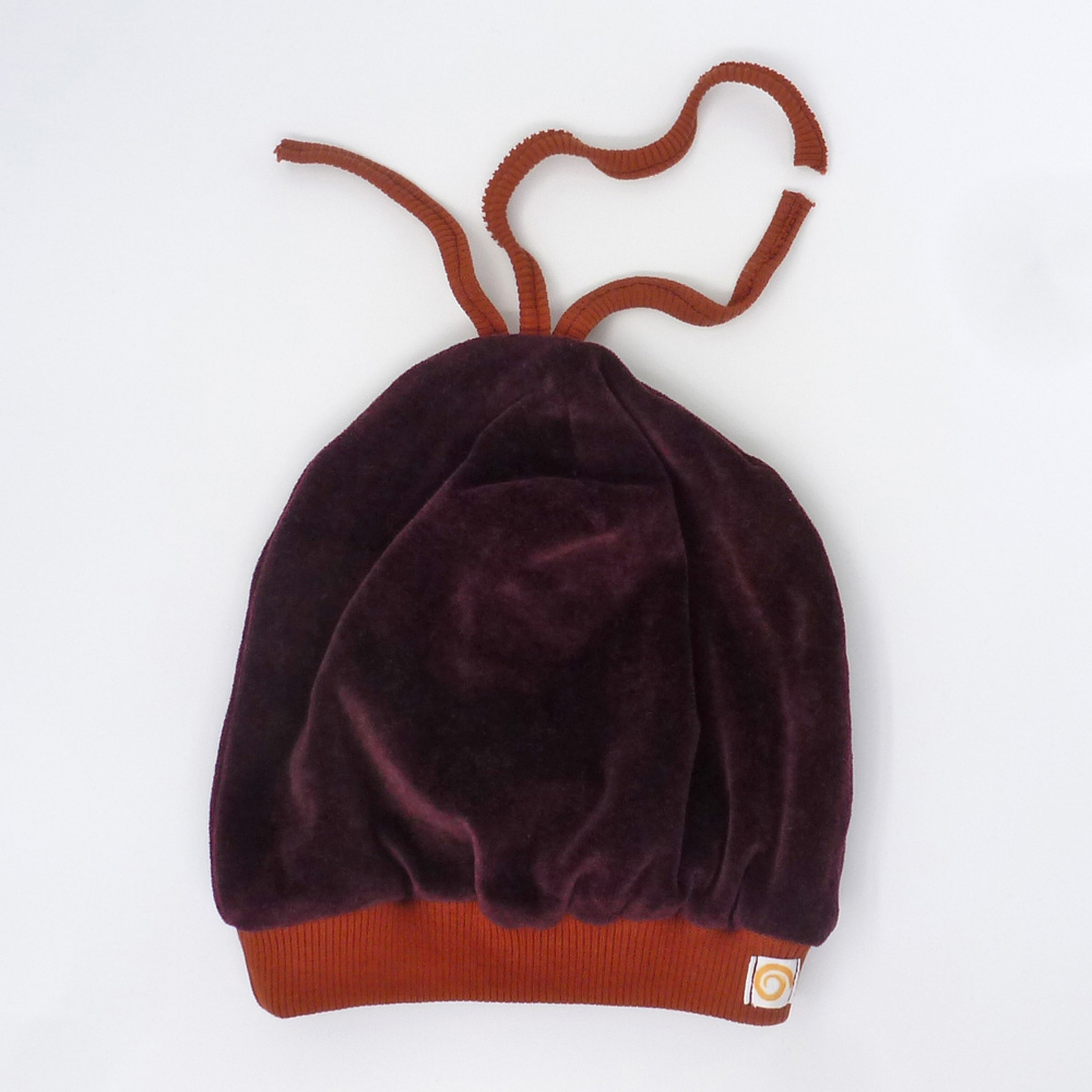 Biuwaa Pur Mütze Wirbel Violett