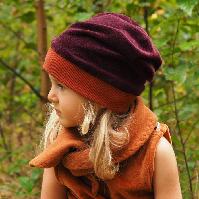 Biuwaa Mütze Nicki Wirbel Violett