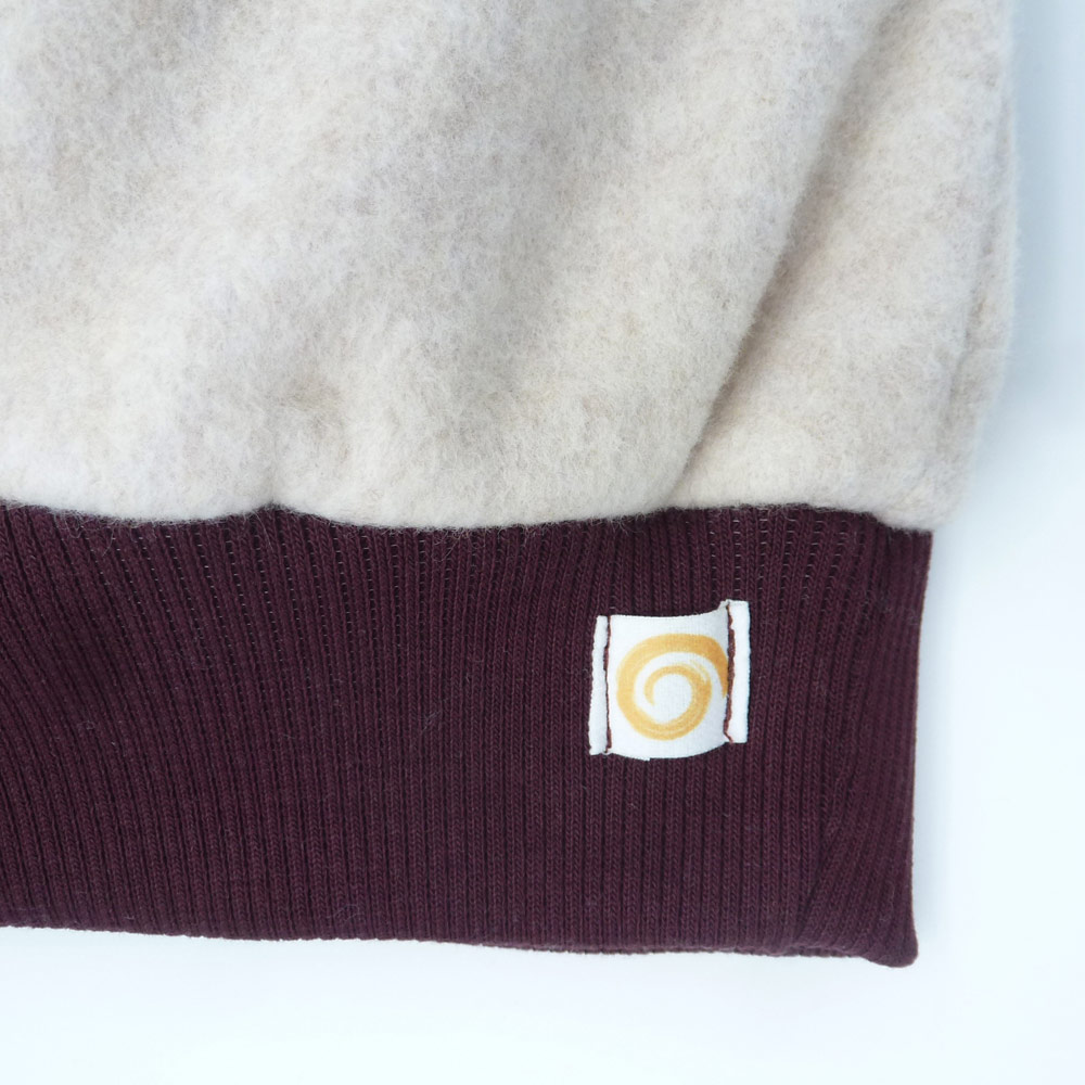 Mütze Fleece Pur Detail Modell Violett