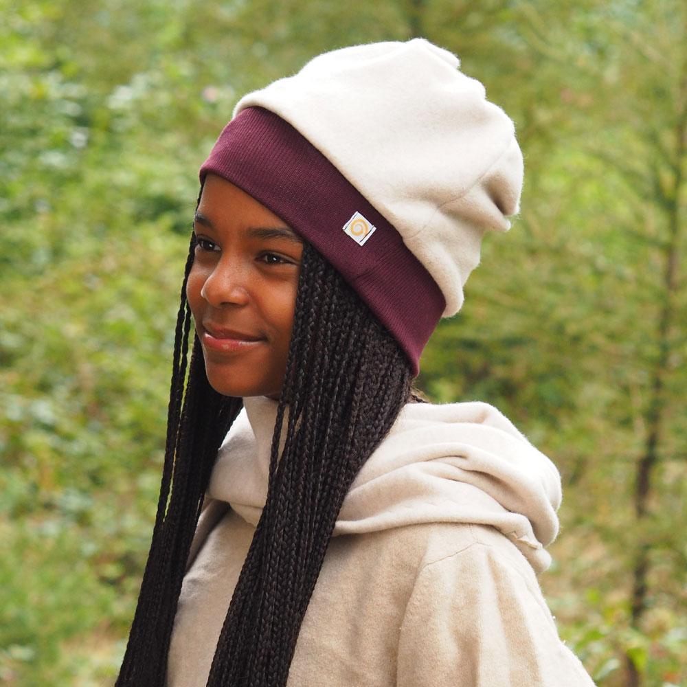 Mütze Fleece Pur Violett